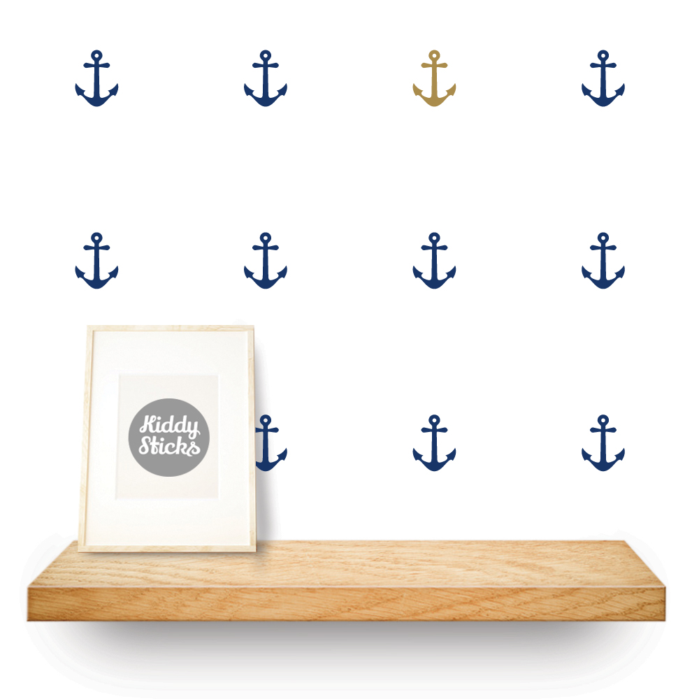 anchor shaped stickers