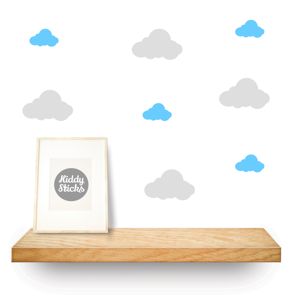 cloud shaped stickers