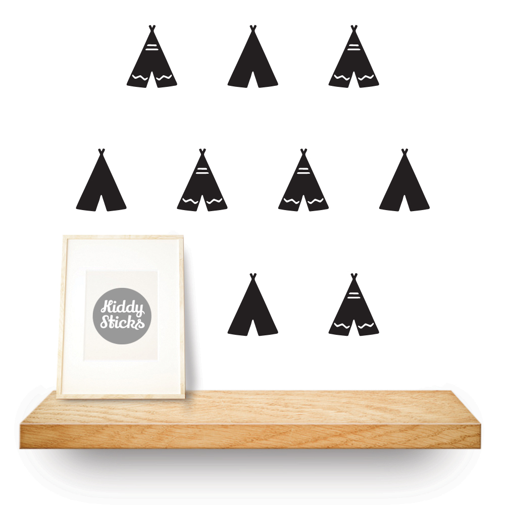 teepee shaped stickers